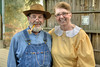Clyde Quillen (Uncle Billy) and Janet Hampton (Ole Hon) poses backstage as The Trail of the Lonesome Pine Outdoor Drama held a 50th Anniversary Celebration and Reunion in Big Stone Gap, VA on Friday, July 26, 2013. Copyright 2013 Jason Barnette