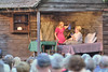 Kennady Ray (June Tolliver) and Juanita Quillen (Mammy Tolliver) perform during the drama as The Trail of the Lonesome Pine Outdoor Drama held a 50th Anniversary Celebration and Reunion in Big Stone Gap, VA on Friday, July 26, 2013. Copyright 2013 Jason Barnette