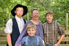 Debbie Goodman (middle) poses with her children backstage as The Trail of the Lonesome Pine Outdoor Drama held a 50th Anniversary Celebration and Reunion in Big Stone Gap, VA on Friday, July 26, 2013. Copyright 2013 Jason Barnette