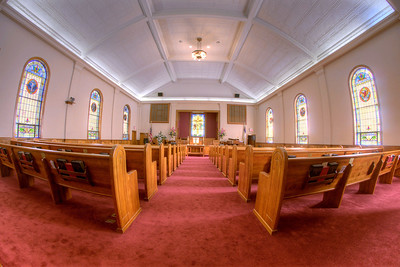 "The interior of the Trinity United Methodist Church in Big Stone Gap, VA on Thursday, April 24, 2014. Copyright 2014 Jason Barnette  This was one of the principle photography shooting locations for the film ""Big Stone Gap"", directed by author Adriana Trigiani and based on her book by the same name. In Fall 2013 a massive film crew descended upon the town to film the independent feature, shooting exclusively on location throughout the region. The film stars Ashley Judd, Patrick Wilson, Jenna Elfman, and Whoopi Goldberg."