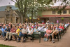 The audience, full of alumni and new visitors, as The Trail of the Lonesome Pine Outdoor Drama held a 50th Anniversary Celebration and Reunion in Big Stone Gap, VA on Friday, July 26, 2013. Copyright 2013 Jason Barnette