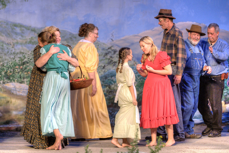 The cast performs during the drama as The Trail of the Lonesome Pine Outdoor Drama held a 50th Anniversary Celebration and Reunion in Big Stone Gap, VA on Friday, July 26, 2013. Copyright 2013 Jason Barnette