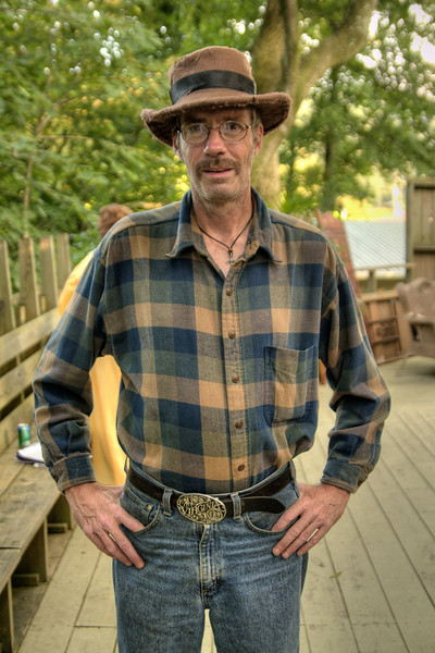Howard Doyle, dressed as a civilian for a small scene, backstage as The Trail of the Lonesome Pine Outdoor Drama held a 50th Anniversary Celebration and Reunion in Big Stone Gap, VA on Friday, July 26, 2013. Copyright 2013 Jason Barnette