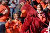 The Hokie Bird mascot greets children along Spring Road as the Virginia Tech University Hokies challenged the Duke University Blue Devils in football at Lane Stadium in Blacksburg, VA on Saturday, October 26, 2013. Copyright 2013 Jason Barnette
