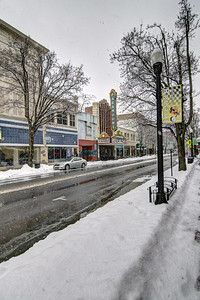 Snow covers State Street in Bristol, VA on Thursday, February 13, 2014. Copyright 2014 Jason Barnette