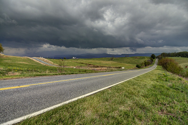 Heavy clouds from a severe storm linger over Whitetop Road near Chilhowie, VA on Monday, April 28, 2014. Copyright 2014 Jason Barnette