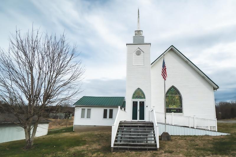 Sulfur Springs United Methodist Church in Castlewood Virginia