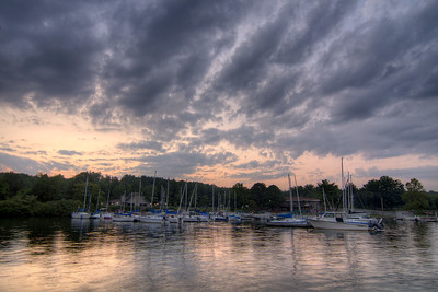 Sunset looking out across the small marina at Claytor Lake State Park in Dublin, VA on Wednesday, July 30, 2014. Copyright 2014 Jason Barnette