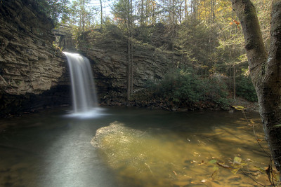 The majestic upper waterfall along the Little Stoney National Recreation Trail in Dungannon, VA on Saturday, October 25, 2014. Copyright 2014 Jason Barnette