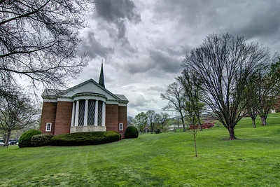 Dark storm clouds over the Chapel at Emory & Henry College in Emory, VA on Monday, April 28, 2014. Copyright 2014 Jason Barnette