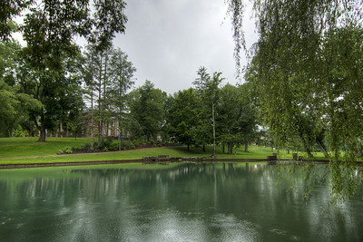 The duck pond on a rainy day at Emory & Henry College in Emory, VA on Wednesday, July 31, 2013. Copyright 2013 Jason Barnette