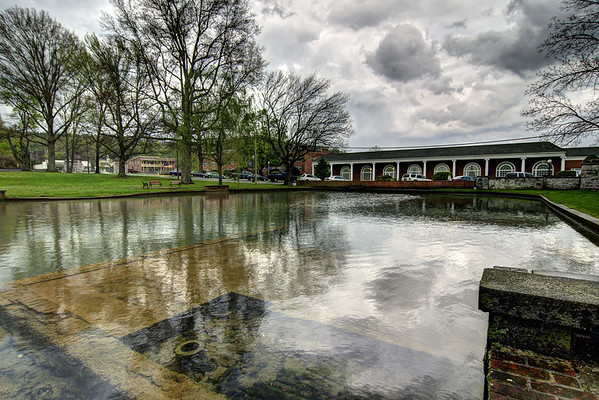 Dark storm clouds over the duck pond at Emory & Henry College in Emory, VA on Monday, April 28, 2014. Copyright 2014 Jason Barnette