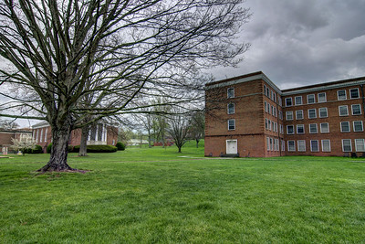 Dark clouds linger over Emory & Henry College in Emory, VA on Monday, April 28, 2014. Copyright 2014 Jason Barnette