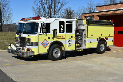 Fauquier Volunteer Fire & Rescue Association purchased this Pierce Dash in 2019 to be used as the county training engine.  Purchased from Remington, Virginia.  2004 Pierce Dash  1500/1000 with job number 8571.  Received in 2019.