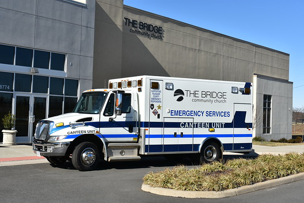 The Bridge Community Church - Warrenton, Virginia.  Canteen ministry.  The church purchased this 2006 International 4300/PL Custom in 2019 from Remington, Virginia (Fauquier County) via grant money.  It serves first responders in the local area.