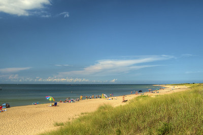 The long beach at First Landing State Park in Virginia Beach, VA on Wednesday, August 19, 2015. Copyright 2015 Jason Barnette
