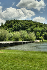 The low water bridge crosses the New River in Fries, VA on Friday, May 31, 2013. Copyright 2013 Jason Barnette