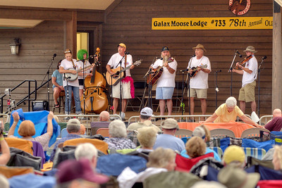A band performs on the stage during the 78th Annual Old Fiddlers' Convention in Galax, VA on Saturday, August 10, 2013. Copyright 2013 Jason Barnette