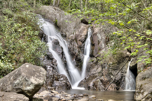 A large waterfall along the Cabin Creek Trail at Grayson Highlands State Park in Mouth of Wilson, VA on Friday, May 31, 2013. Copyright 2013 Jason Barnette
