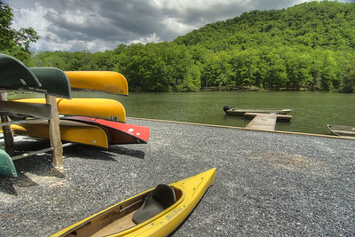 Kayaks and canoes available for rent at Hungry Mother State Park in Marion, VA on Saturday, June 1, 2013. Copyright 2013 Jason Barnette