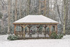 Snow falls around a large gazebo at Hungry Mother State Park in Marion, VA on Tuesday, January 21, 2014. Copyright 2014 Jason Barnette