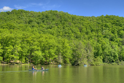 People enjoy the water activities on the lake at Hungry Mother State Park in Marion, VA on Saturday, May 24, 2014. Copyright 2014 Jason Barnette
