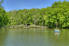 A couple of people ride a paddleboat across the lake at Hungry Mother State Park in Marion, VA on Saturday, May 24, 2014. Copyright 2014 Jason Barnette