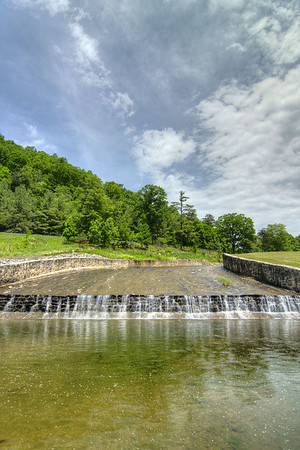 Water from the lake spills over the dam at Hungry Mother State Park in Marion, VA on Saturday, June 1, 2013. Copyright 2013 Jason Barnette
