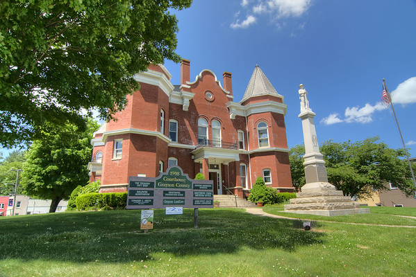 The Historic 1908 Courthouse, now serving as the arts and cultural center for the county, along Highway 58 in Independence, VA on Friday, May 31, 2013. Copyright 2013 Jason Barnette