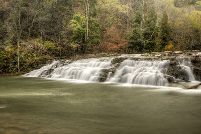 Water churns over Big Falls along Big Cedar Creek at the Pinnacle Natural Area Preserve in Lebanon, VA on Tuesday, October 21, 2014. Copyright 2014 Jason Barnette