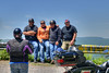 The Rambo Family (seriously, it was their last name) poses for a group photo on one of the many beautiful scenic overlooks along The Back of the Dragon, or Highway 16, in Marion, VA on Saturday, May 24, 2014. Copyright 2014 Jason Barnette