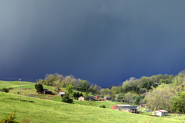Dark clouds cover the horizon as severe thunderstorms move through Meadowview, VA on Monday, April 28, 2014. Copyright 2014 Jason Barnette