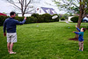 Goodwin and Grayson play frisbee - 4-27-2013