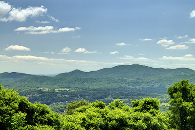 A view of the valley from the lower Mill Mountain Overlook in Roanoke, VA on Friday, July 4, 2014. Copyright 2014 Jason Barnette