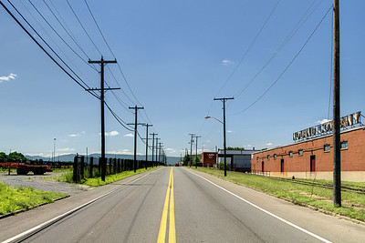 View along Shenandoah Avenue in Roanoke, VA on Friday, July 4, 2014. Copyright 2014 Jason Barnette