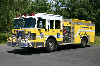 Old Wagon 6 at Ashburn was this 2001 Spartan Gladiator/2002 Smeal  1500/600/40.  It was ordered and delivered with Ashburn's Quint 6.  In January of 2014, it was sold to the Bergton, Virginia VFD.  At one time Bergton also owned Ashburn's 1974 Dodge/Stinebaugh.  This is the second fire truck acquired by Bergton from Ashburn.