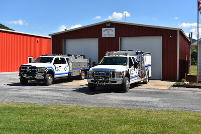 One of two garages for the Bergton, Virginia VFC.