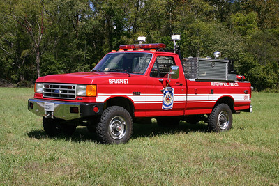 Brush 57 was this 1988 Ford F-350/Wisconsin, 250/250.  Sold in 2019 to the South Fork VFD in Brandywine, WV (Pendleton County).  ex - Buckhall VFD in Prince William County. ex - Capon Springs VFD, West Virginia.