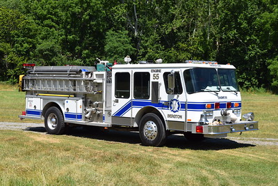 Engine 55 is this 1987 E-One Cyclone TM, 1250/750, sn- 5758, that was purchased from the Lake Jackson VFD in Prince William County, Virginia.