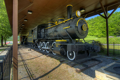 An old train on display in Saltville, VA on Tuesday, June 4, 2013. Copyright 2013 Jason Barnette