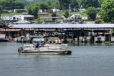 A boat leaves the Painter Creek Marina on South Holston Lake near Bristol, TN on Sunday, June 9, 2013. Copyright 2013 Jason Barnette