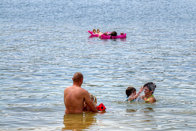 People enjoy swimming at Observation Knob Park on South Holston Lake near Bristol, TN on Sunday, June 9, 2013. Copyright 2013 Jason Barnette