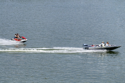 A boat and jet ski ride along South Holston Lake near Bristol, TN on Sunday, June 9, 2013. Copyright 2013 Jason Barnette