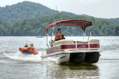 People enjoy playing on South Holston Lake near Abingdon, VA on Sunday, June 9, 2013. Copyright 2013 Jason Barnette