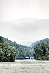 A storm obscures the mountains at South Holston Lake near Bristol, TN on Sunday, June 9, 2013. Copyright 2013 Jason Barnette