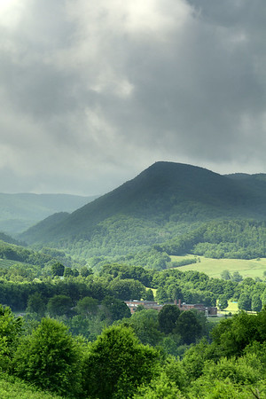 A view of Dickey Knob from a hill high above Sugar Grove, VA on Friday, June 13, 2014. Copyright 2014 Jason Barnette