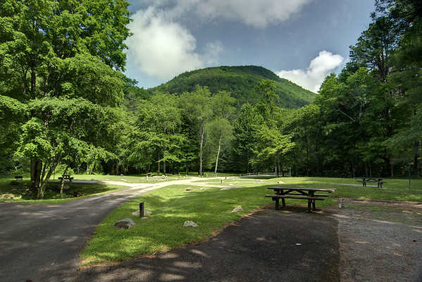 The small, cozy Raccoon Branch Campground with spectacular mountain views along Highway 16 in Sugar Grove, VA on Friday, June 13, 2014. Copyright 2014 Jason Barnette