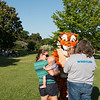 Chance is not so sure about talking to Tony the Tiger!