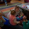 Kids playing with Liz