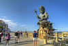 The massive 34-foot tall King Neptune Statue on the beach in Virginia Beach, VA on Wednesday, August 19, 2015. Copyright 2015 Jason Barnette